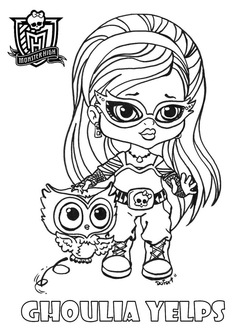 All about monster high dolls ghoulia yelps free printable for Free monster high coloring pages