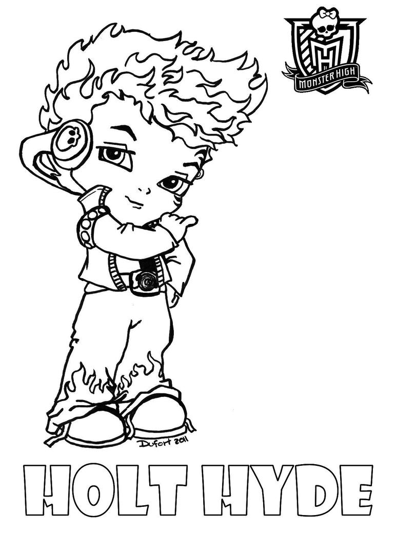 Monster High Characters And Pets Coloring Pages | Coloring Page