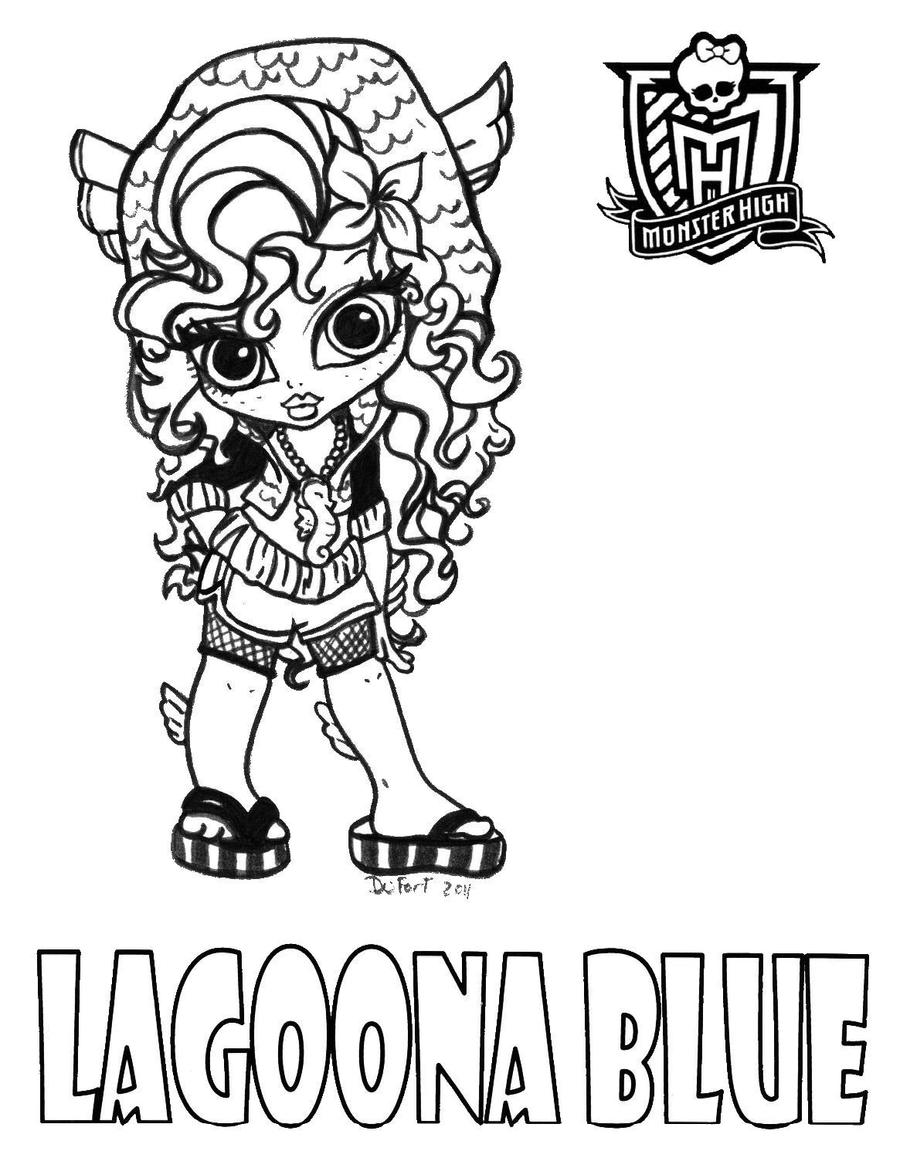 small monster high coloring pages - photo#3
