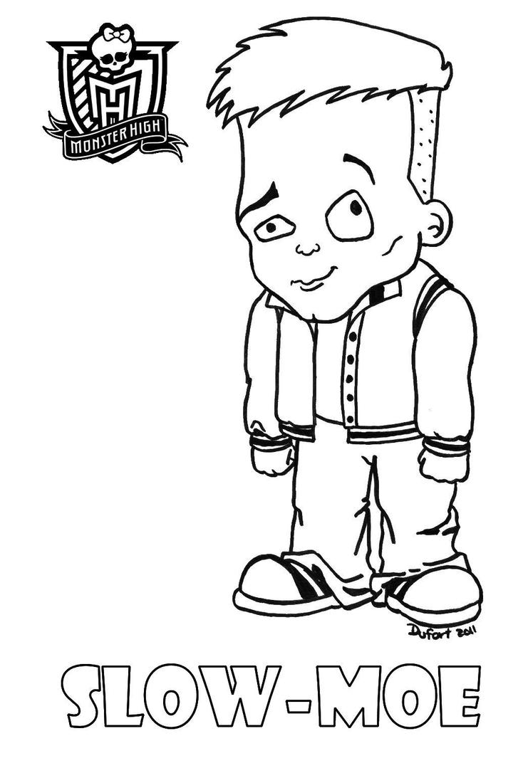 baby slow moe by jadedragonne - Monster High Baby Coloring Pages