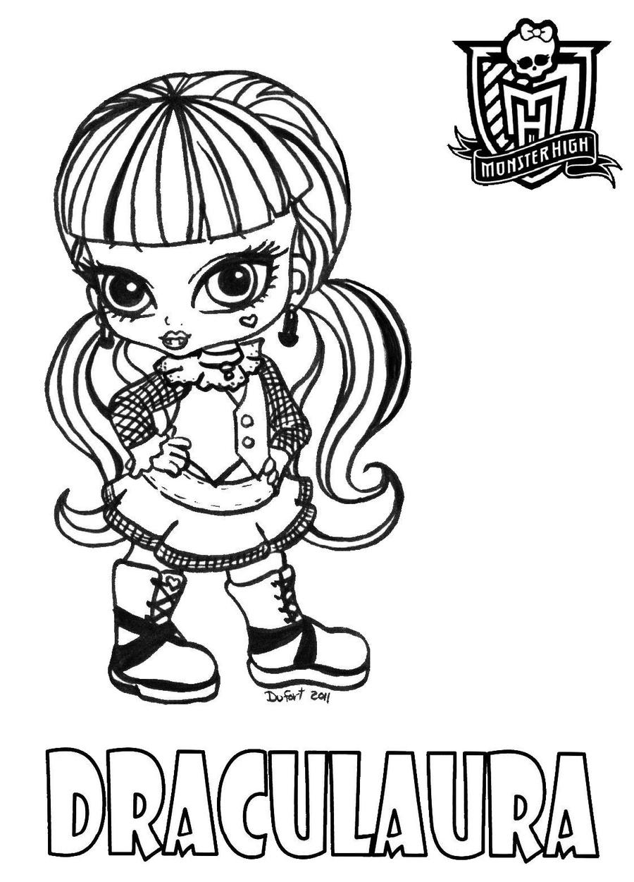 How To Draw Baby Monster High Dolls Coloring Pages