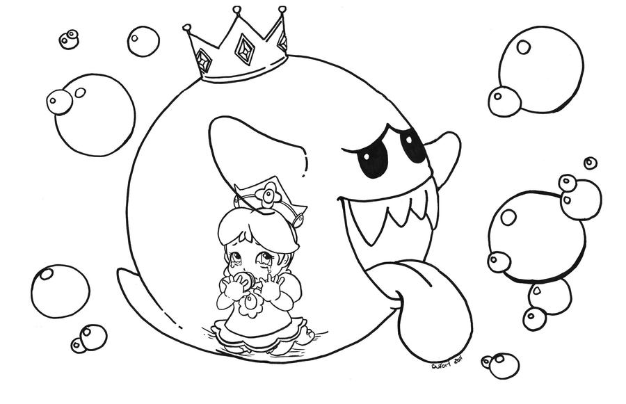 Daisy trapped in king boo by jadedragonne on deviantart for King boo coloring pages