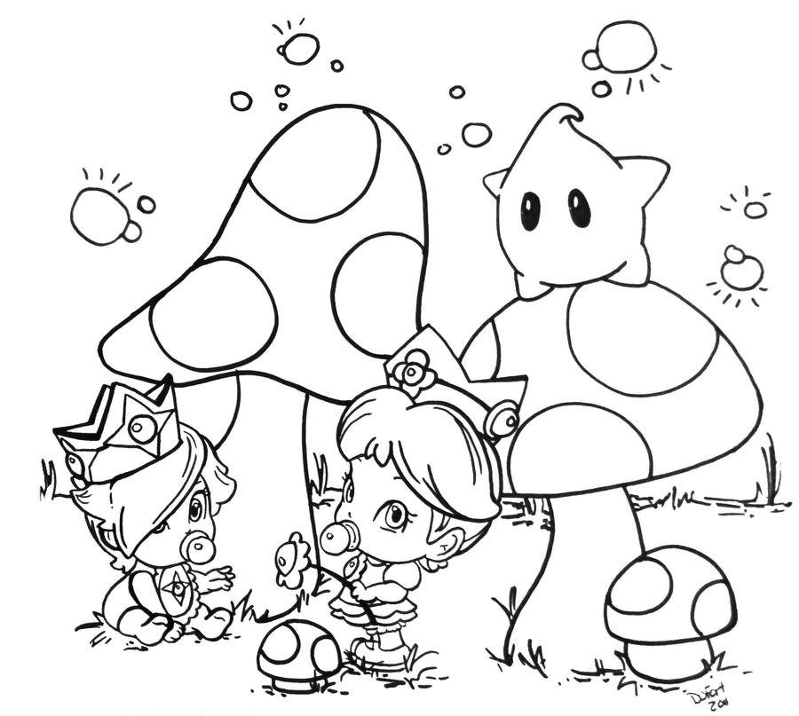 Princess Peach Daisy Rosalina Coloring Pages Coloring Pages