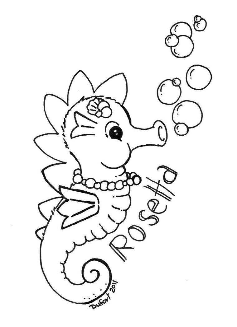 rosetta the seahorse by jadedragonne on deviantart