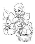 Picking up cherries