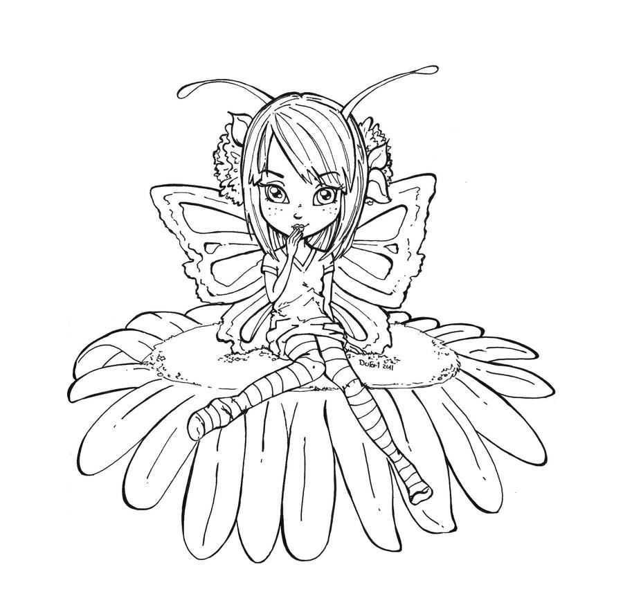 Butterfly fairy by jadedragonne on deviantart for Butterfly fairy coloring pages