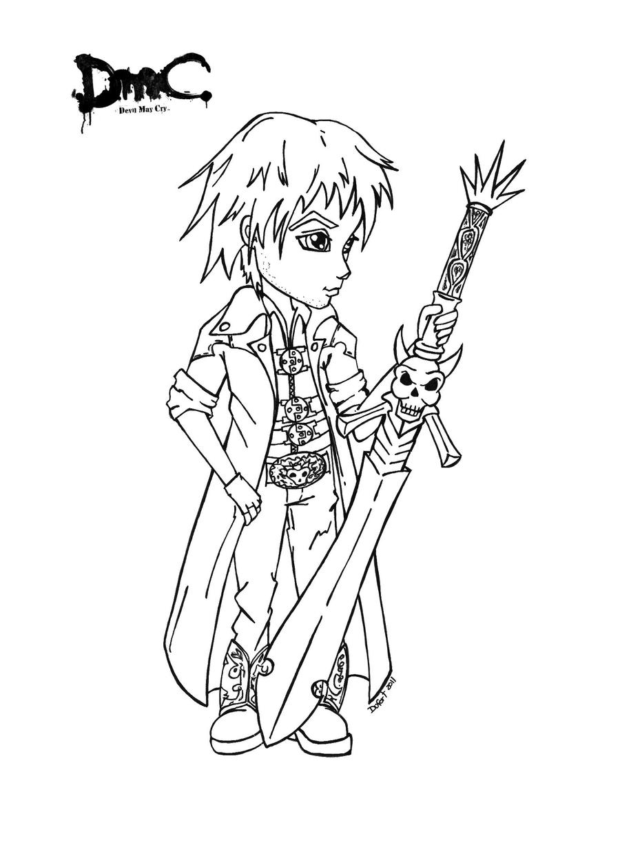 devil may cry coloring pages - photo#34
