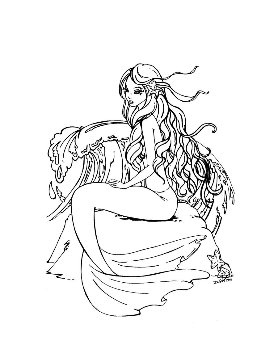 Wishes in the wind by jadedragonne on deviantart for Capricorn coloring pages