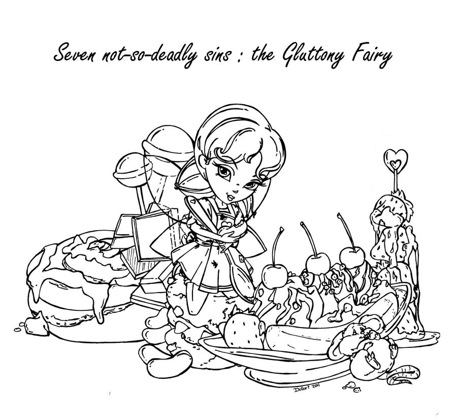 gluttony coloring pages | The Gluttony Fairy by JadeDragonne on DeviantArt