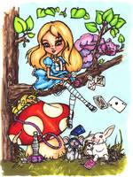 Alice in Wonderland by JadeDragonne