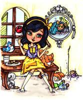 Snow White by JadeDragonne