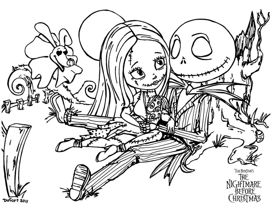 Sally jack romantic evening by jadedragonne on deviantart for Jack and sally coloring pages