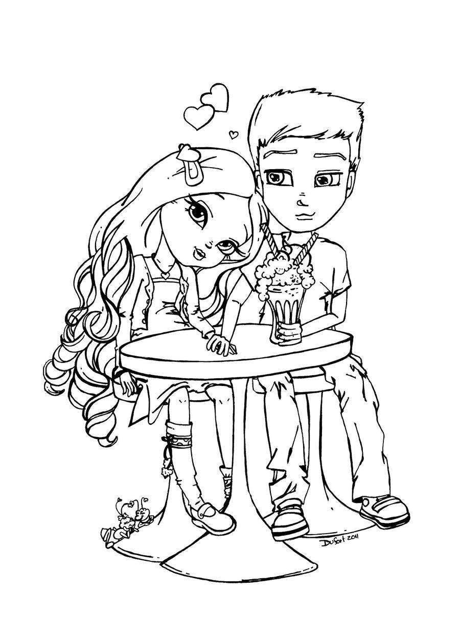 High school sweethearts by JadeDragonne