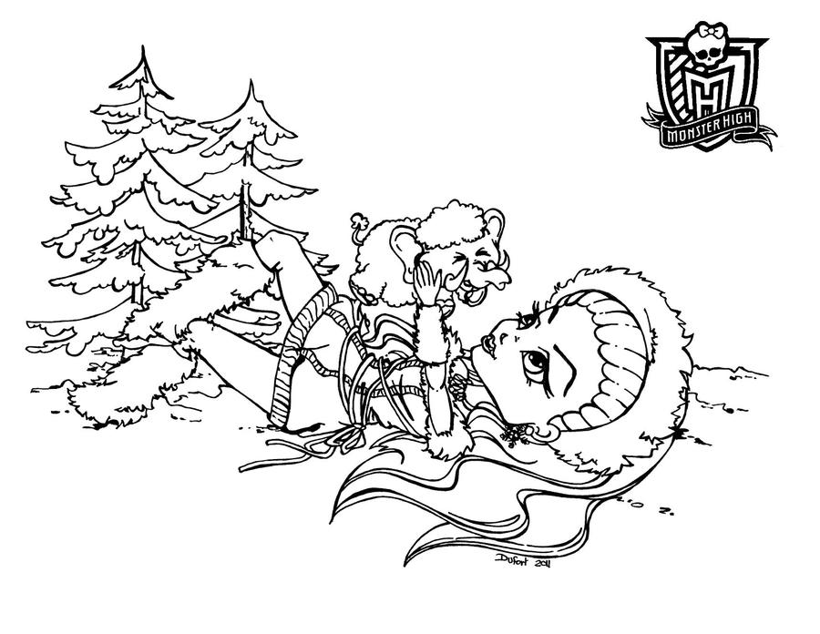 abbey bominable coloring pages - abbey bominable mh by jadedragonne on deviantart