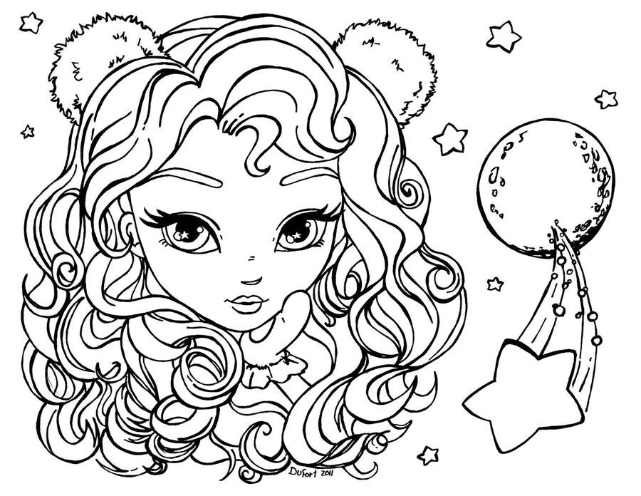 Zodiac leo by jadedragonne on deviantart for Leo coloring pages