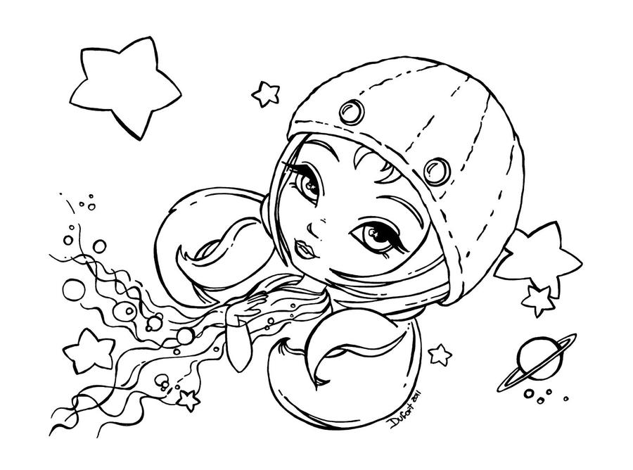 cancer coloring pages - zodiac cancer by jadedragonne on deviantart