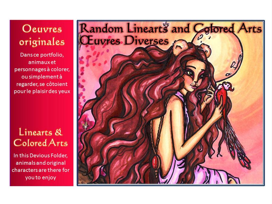 RANDOM LINEARTS Folder by JadeDragonne