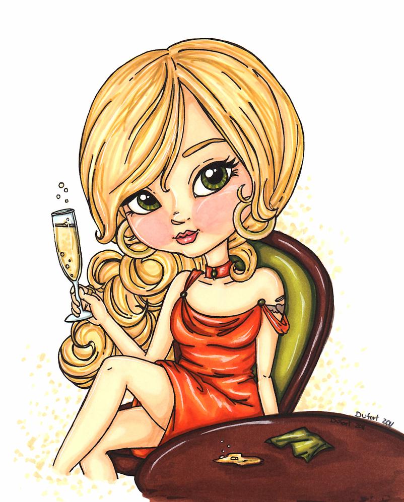 Champagne by JadeDragonne