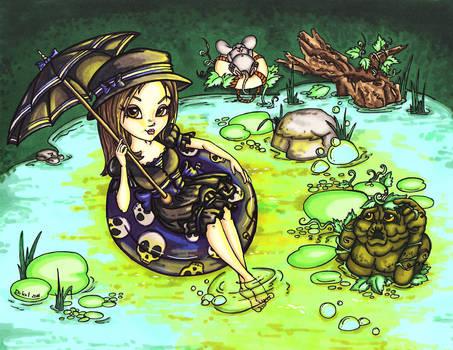 Moonbathing in the swamp