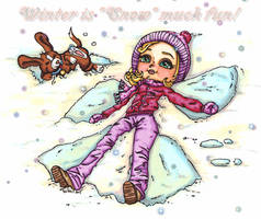 Winter is snow fun by JadeDragonne