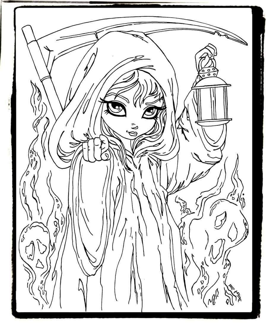 jasmine becket griffith free coloring pages - grim reaper by jadedragonne on deviantart