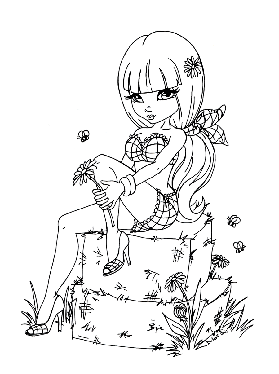 Haystack by jadedragonne on deviantart for Hot girl coloring pages