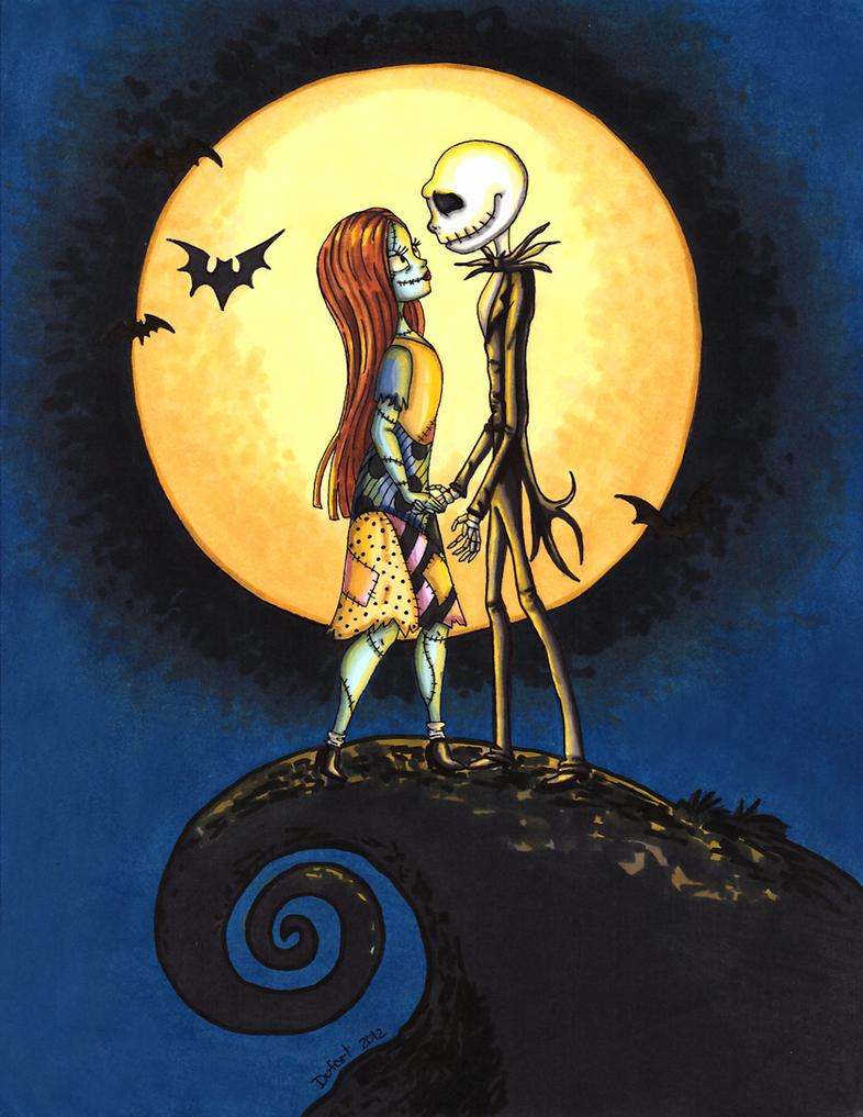 Jack 'n Sally by JadeDragonne on DeviantArt