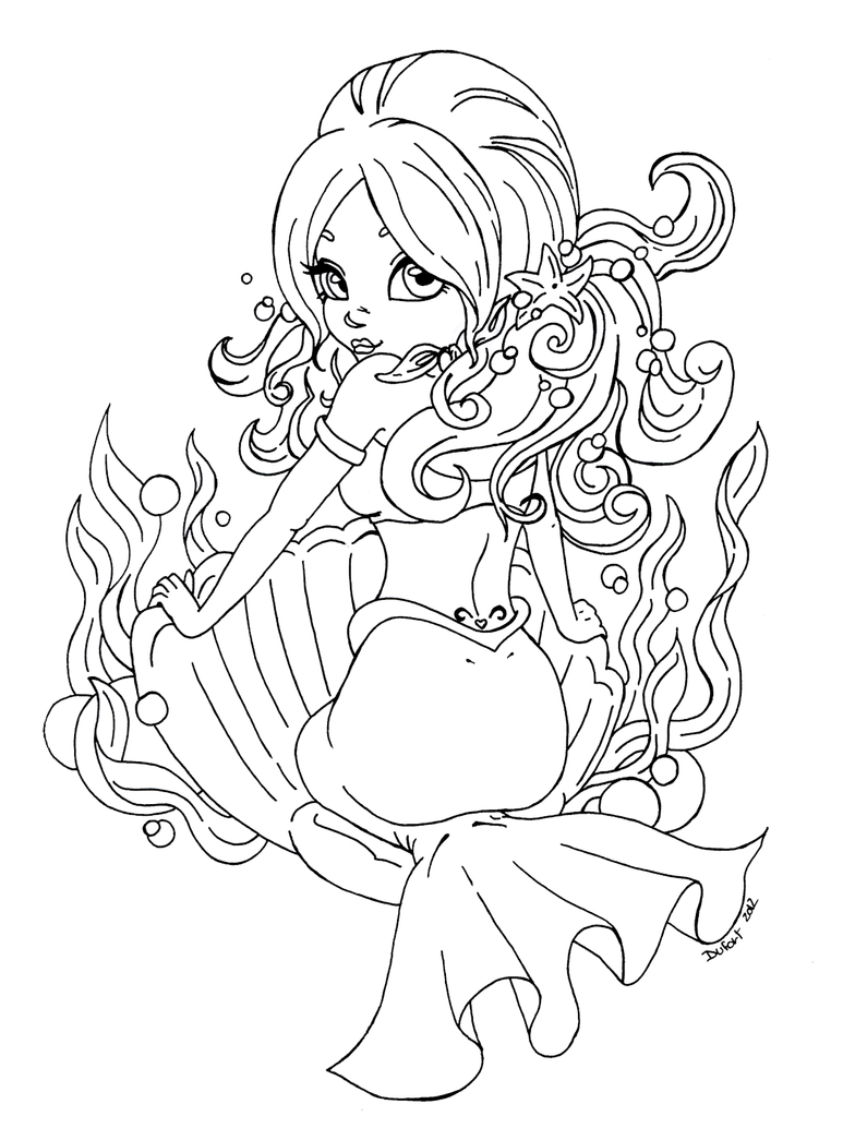 Pin Up Coloring Pages
