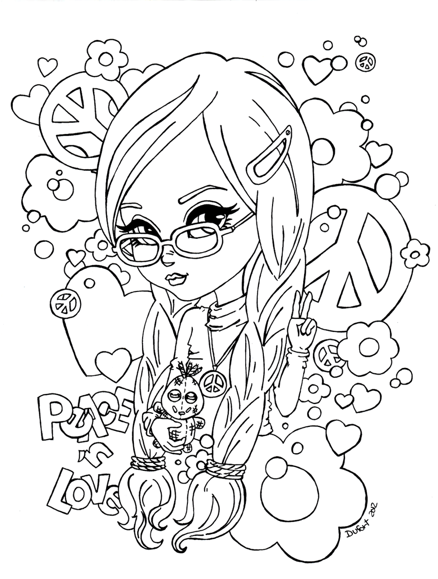 coloring pages peace love - photo#15