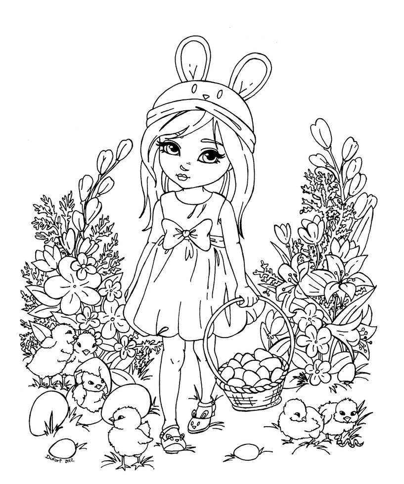 2012 EASTER Coloring Contest by CutiePieWonderland on