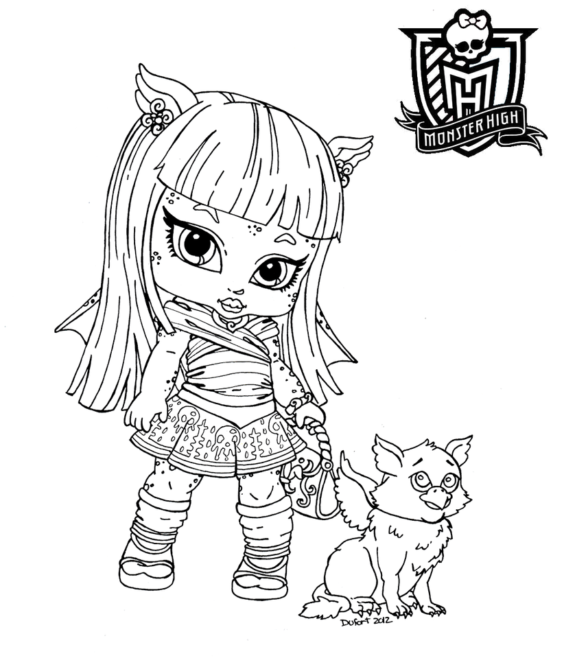 Cookie monster high baby coloring pages coloring pages for Monster high coloring pages all characters