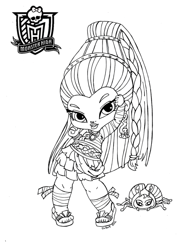 All about monster high dolls baby monster high character for Coloring page monster high