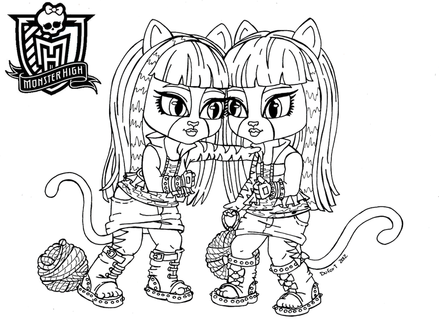 All about monster high dolls baby monster high character for Monster high pets coloring pages