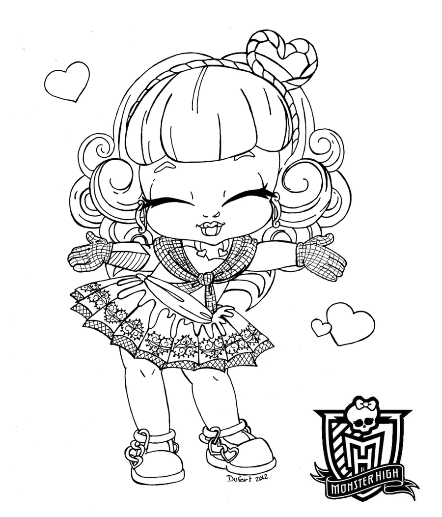 Baby c a cupid by jadedragonne on deviantart for Baby monster high color pages