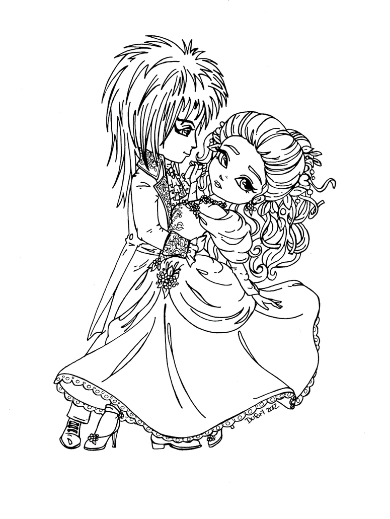 labyrinth coloring pages jareth and sarah labyrinth by jadedragonne on deviantart
