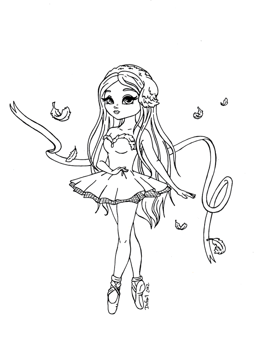 how to draw ballerina anime