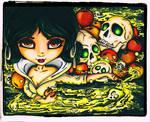 Dark Tales - Snow White and the 7 skulls by JadeDragonne