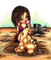 Mud puddle by JadeDragonne