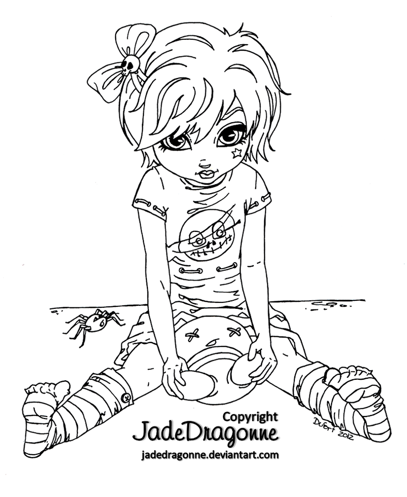 gothic art coloring pages - photo#33