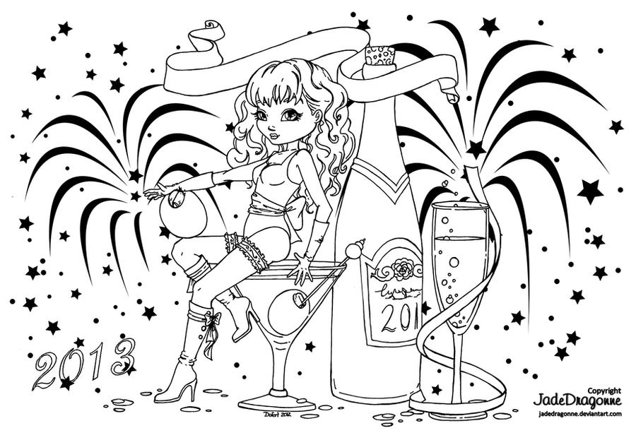 Happy New Year by JadeDragonne