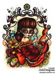 Dia De Muertos Madonna - Colored by JadeDragonne