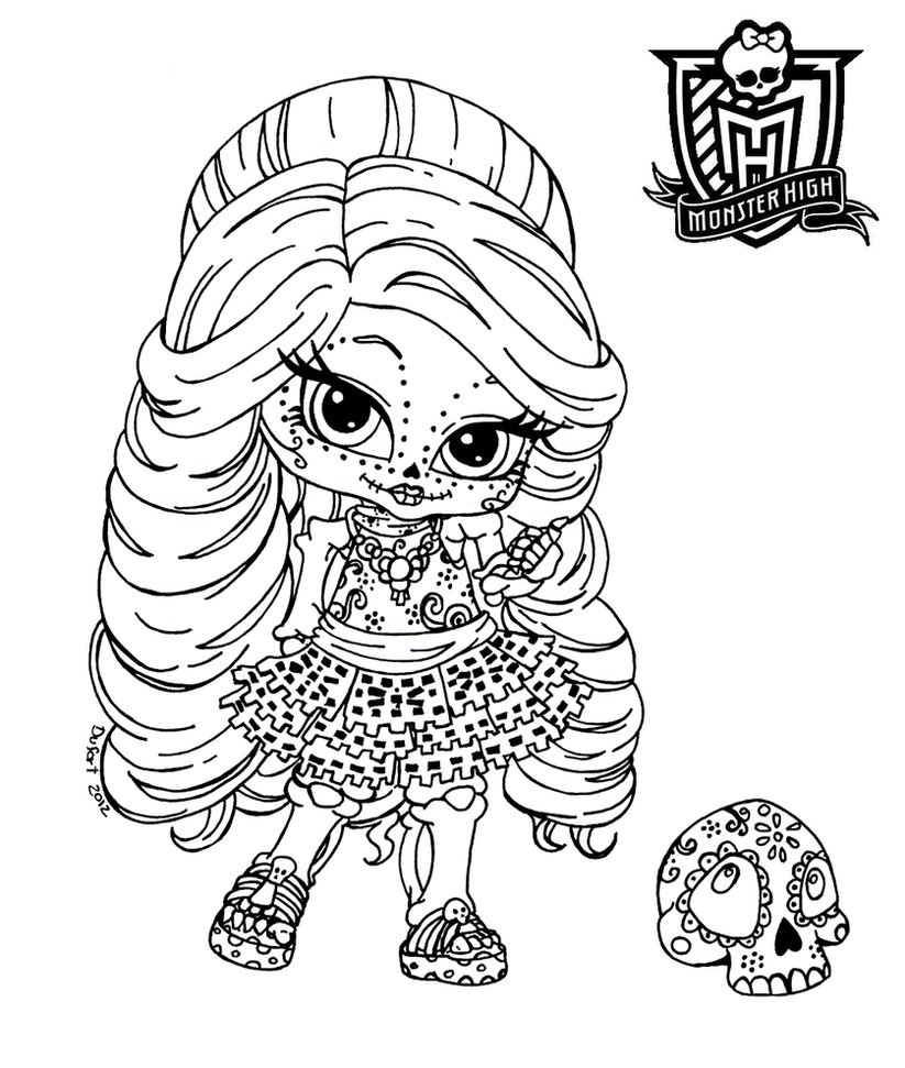 all about monster high dolls baby monster high character free printable coloring pages