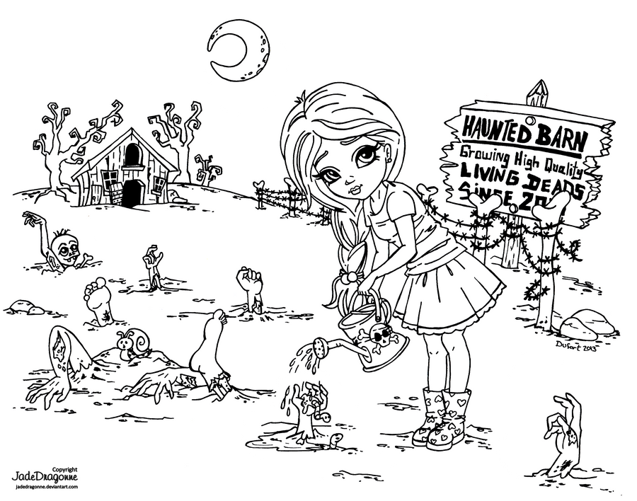 Zombie Farm by JadeDragonne