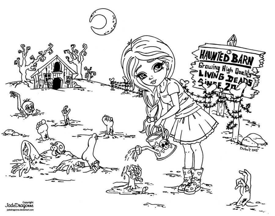 Zombie Farm by JadeDragonne
