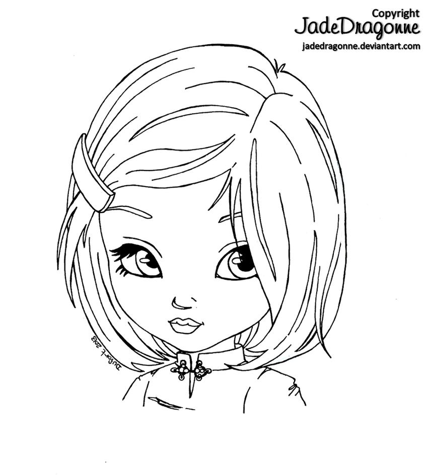 Asian girl by JadeDragonne