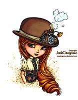 Steampunk hat - colored by JadeDragonne