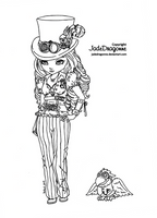 Steampunk Goth by JadeDragonne