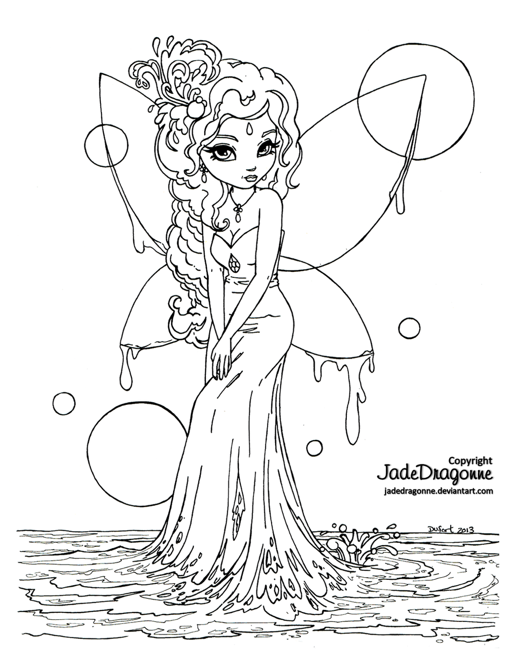 water fairies coloring pages - photo#5