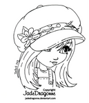 The Hat - Lineart
