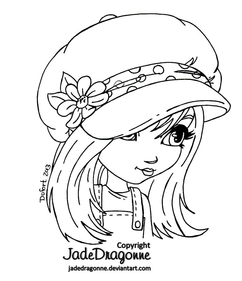 The Hat - Lineart by JadeDragonne